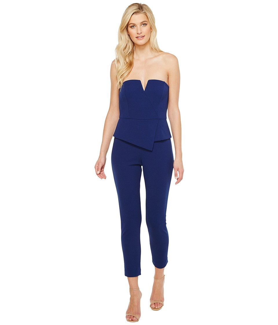 Adrianna Papell - Knit Crepe Jumpsuit (Navy) Women's Jumpsuit & Rompers One Piece