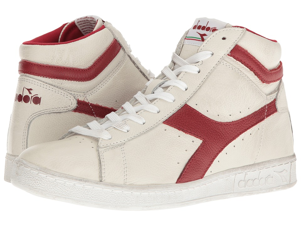 Diadora - Game L High Waxed (White/Red Pepper) Athletic Shoes