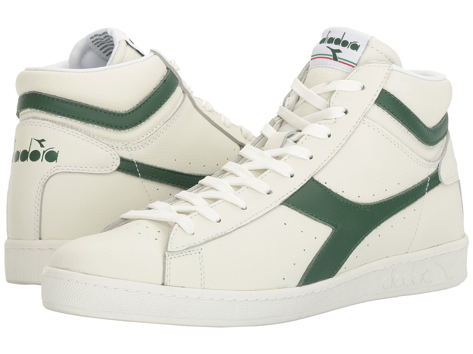 Diadora - Game L High Waxed (White/Greener Pastures/White) Athletic Shoes