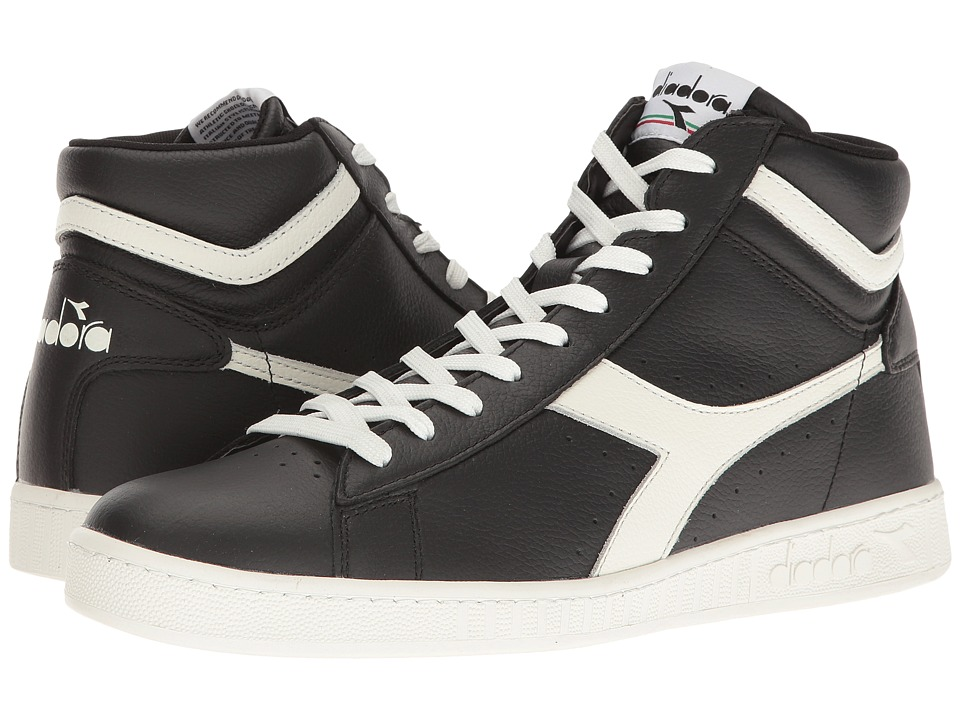 Diadora - Game L High Waxed (Black/White/Black) Athletic Shoes