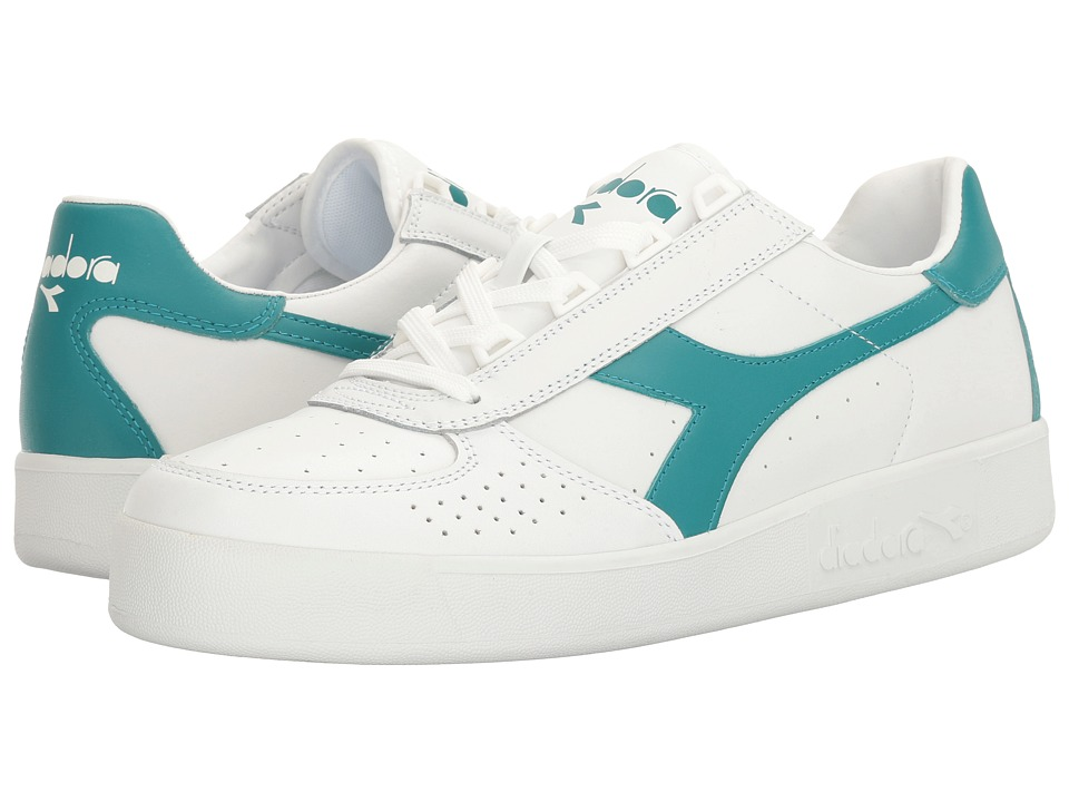 Diadora - B. Elite (White/Harbor Blue) Men's Shoes