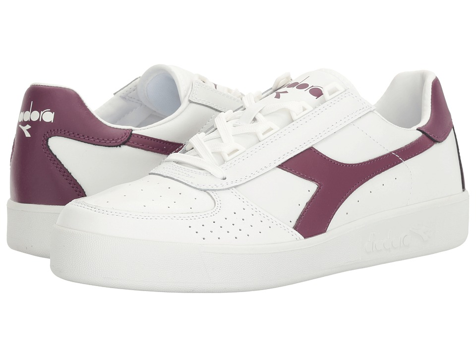 Diadora - B. Elite (White/Amaranth) Men's Shoes