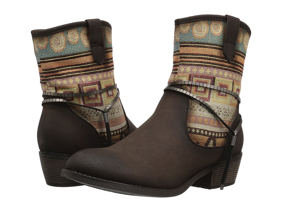 Roper Rios (Brown Faux Leather) Cowboy Boots