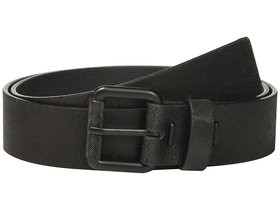 Calvin Klein - 40mm Crackle Finish Belt w/ Roller Buckle (Black) Men's Belts
