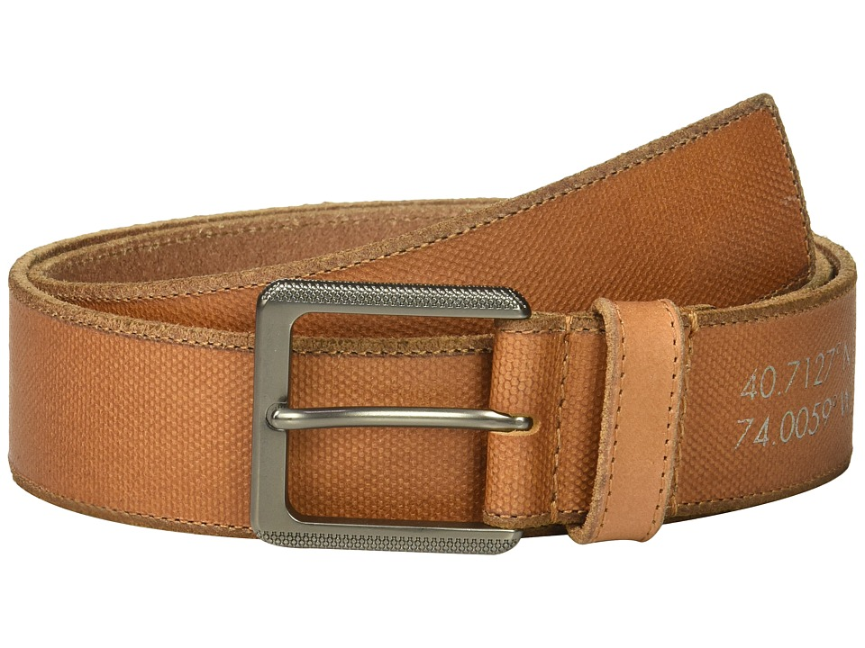 Calvin Klein - 38mm Belt w/ Harness Buckle (Whiskey) Men's Belts