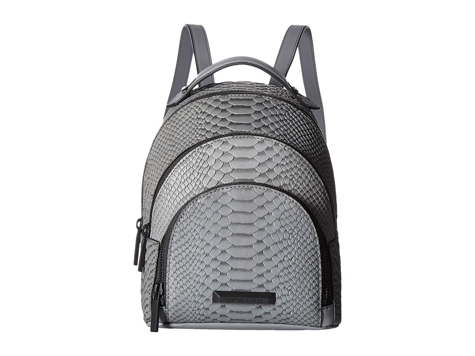 KENDALL + KYLIE - Sloane Mini Snake (Slate Grey) Backpack Bags