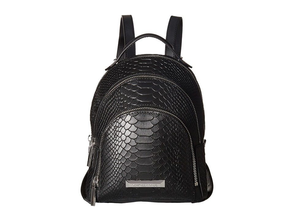KENDALL + KYLIE - Sloane Mini Snake (Black) Backpack Bags
