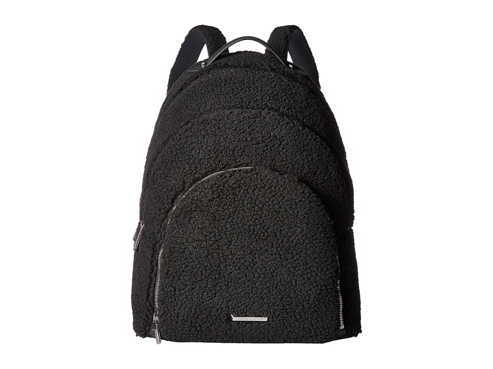 KENDALL + KYLIE - XL Sloane Shearling (Black) Backpack Bags