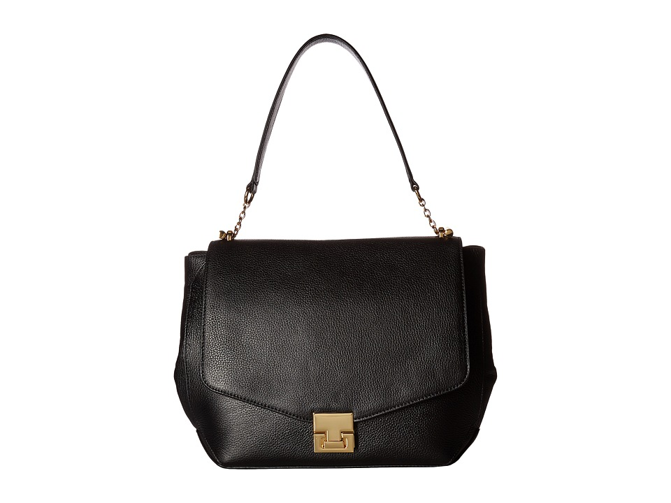 Ivanka Trump - Hopewell Shoulder Bag (Black Pebble) Shoulder Handbags