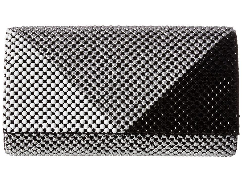 Jessica McClintock - Cassie Multi Mesh Clutch (Black/Silver) Clutch Handbags