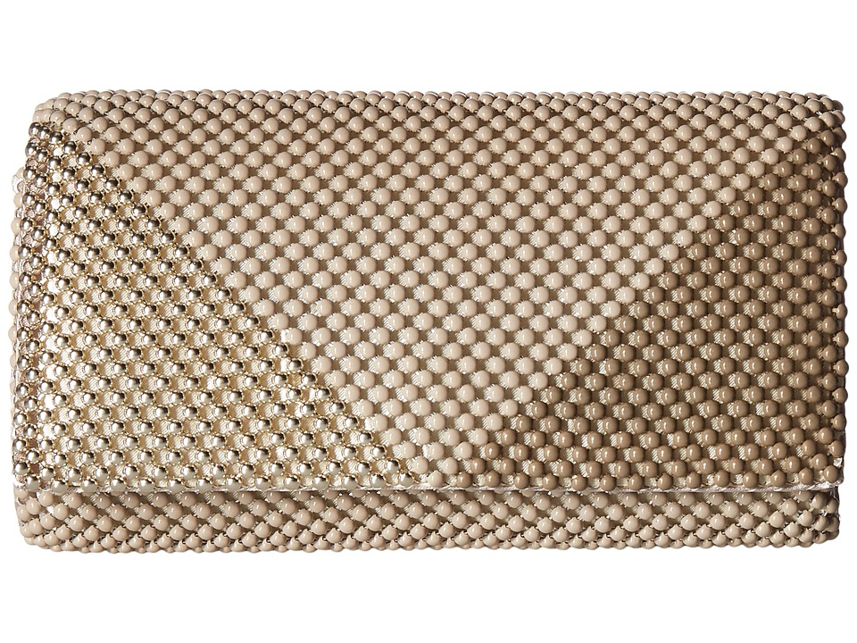 Jessica McClintock - Cassie Multi Mesh Clutch (Taupe/Gold) Clutch Handbags
