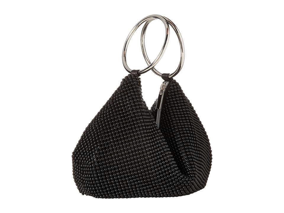 Jessica McClintock - Sarah Ring Clutch (Black) Clutch Handbags