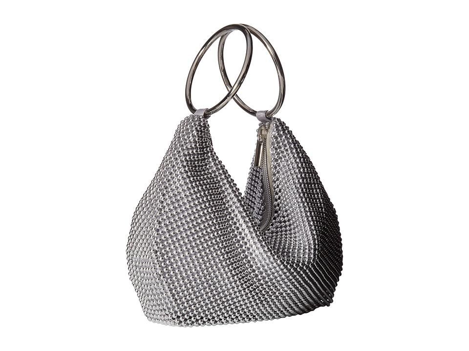 Jessica McClintock - Sarah Ring Clutch (Silver) Clutch Handbags