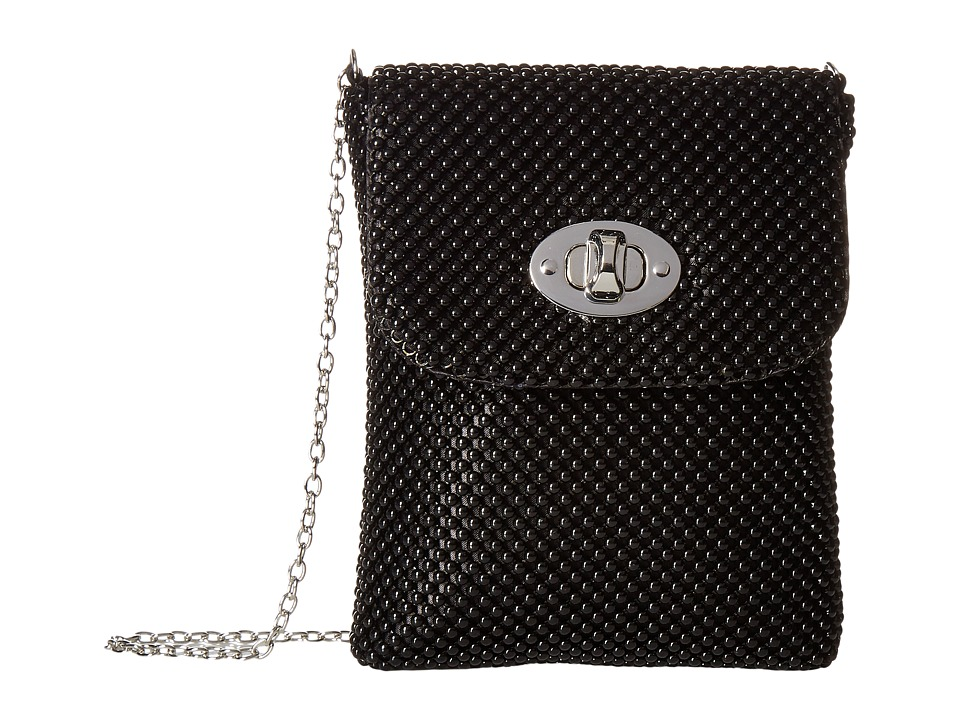 Jessica McClintock - Demi Mesh Phone Crossbody (Black) Cross Body Handbags