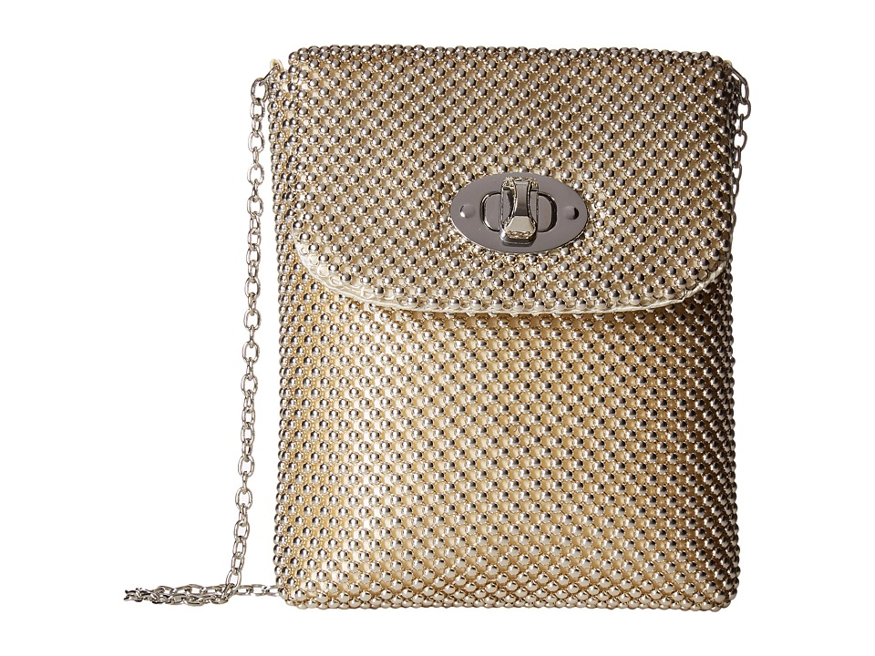 Jessica McClintock - Demi Mesh Phone Crossbody (Light Gold) Cross Body Handbags