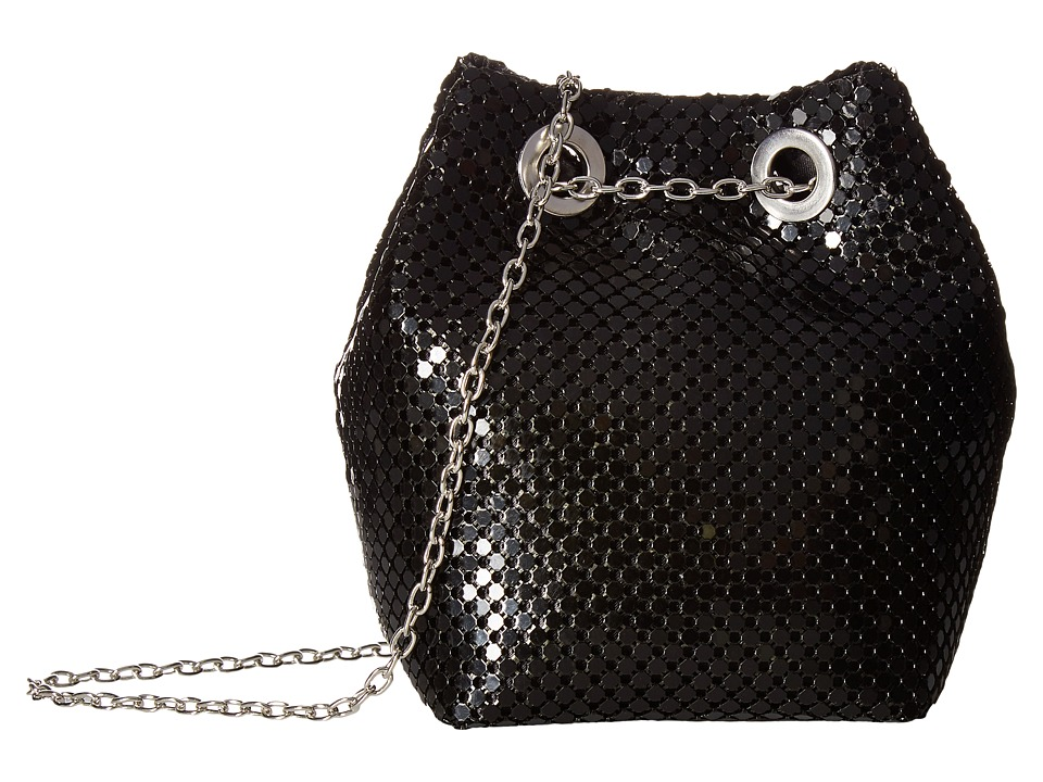 Jessica McClintock - Kendra Mesh Bucket Bag (Black) Handbags