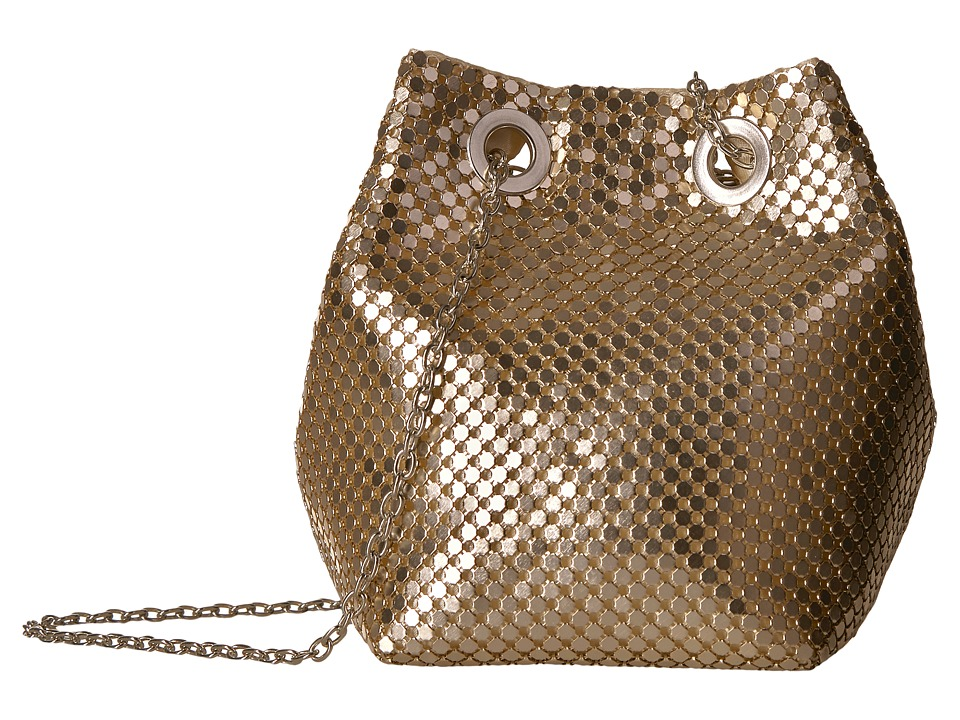 Jessica McClintock - Kendra Mesh Bucket Bag (Light Gold) Handbags