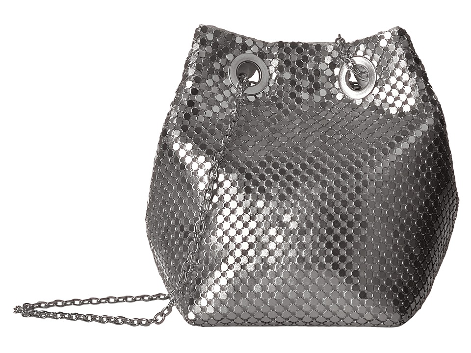 Jessica McClintock - Kendra Mesh Bucket Bag (Silver) Handbags