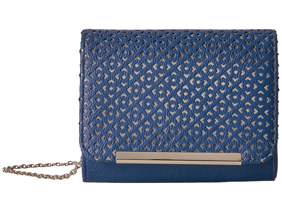 Jessica McClintock - Katie Perforated Shoulder Bag (Navy) Shoulder Handbags