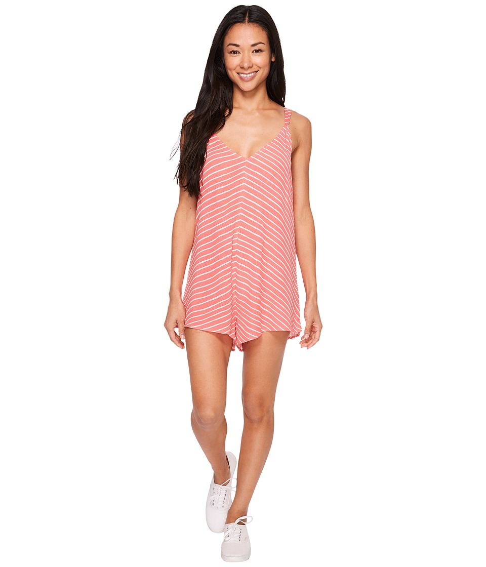 Billabong - Free Time Walkshorts (Vintage Coral) Women's Jumpsuit & Rompers One Piece