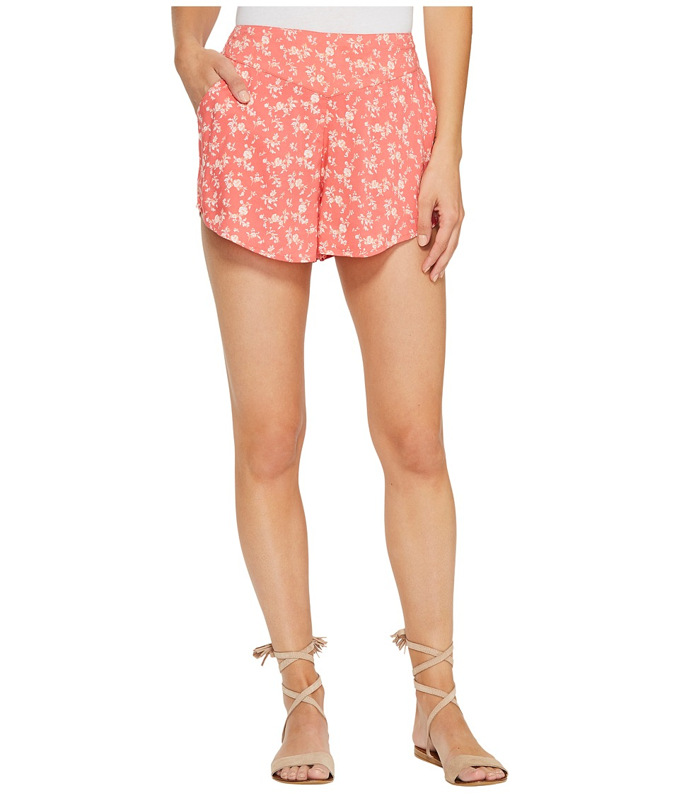 Billabong - Blue Skies Shorts Walkshorts (Vintage Coral) Women's Shorts