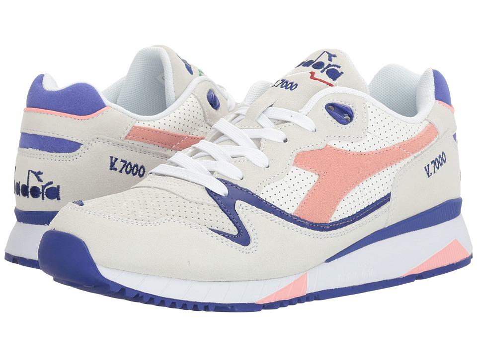 Diadora V7000 Premium (White/Blossom) Athletic Shoes