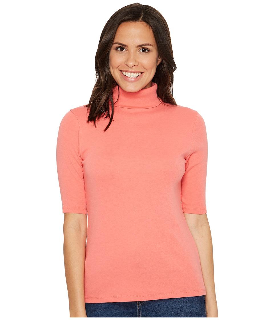 Lilla P - Elbow Sleeve Turtleneck (Punch) Women's Clothing
