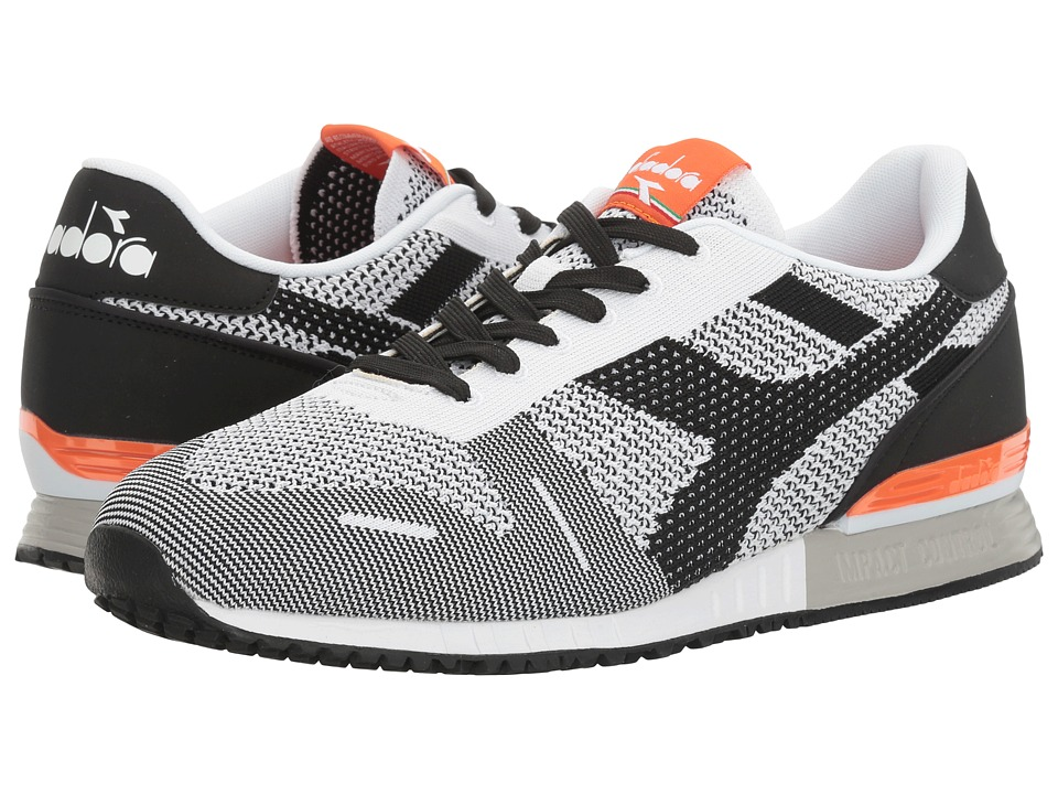 Diadora - Titan Weave (Black/White/Orange) Athletic Shoes