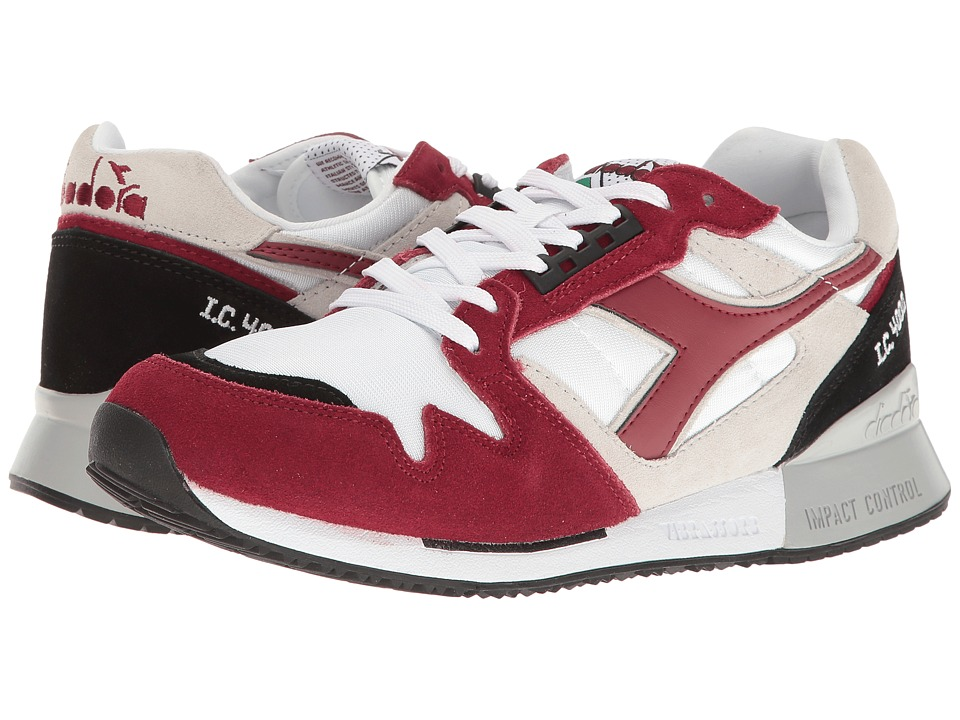Diadora - I.C 4000 NYL II (White/Tibetan Red) Athletic Shoes