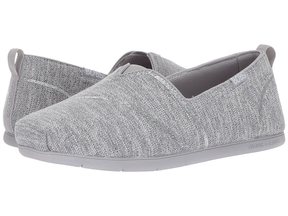 BOBS from SKECHERS - Plush Lite - Winter Skies (Grey) Women's Slip on Shoes