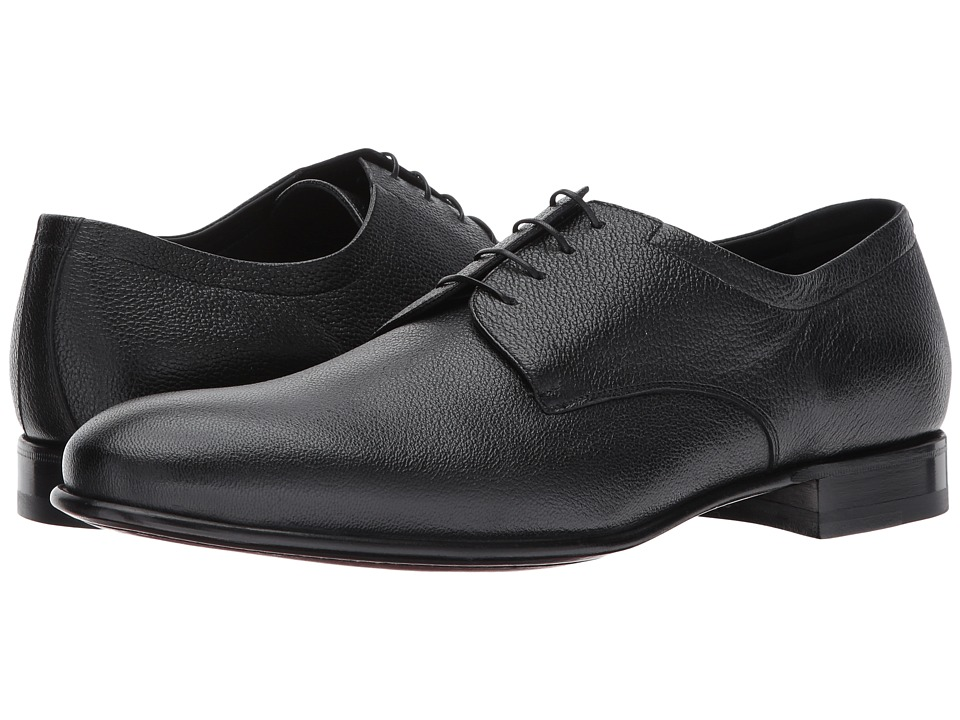 Image of a. testoni - Leather Derby (Nero) Men's Lace up casual Shoes
