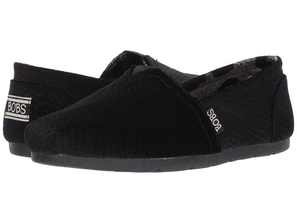 BOBS from SKECHERS Luxe Bobs Fleetwood (Black) Women