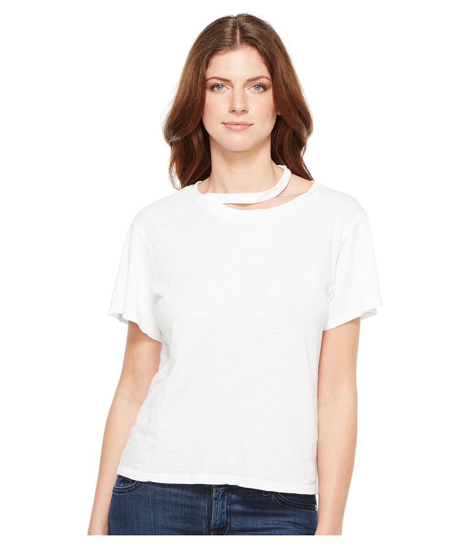 LNA - Double Neck Band Tee (White) Women's T Shirt