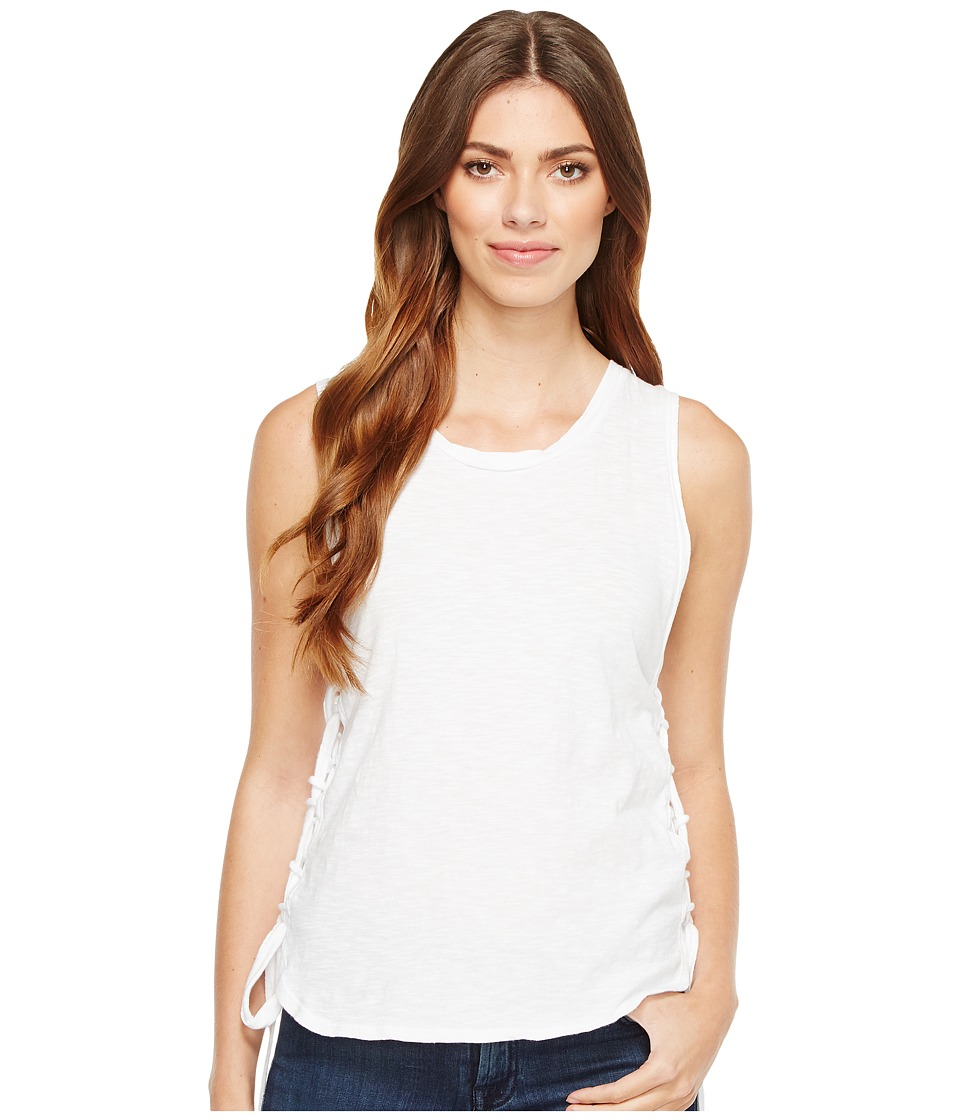 LNA - Tied Up Tank Top (White) Women's Sleeveless
