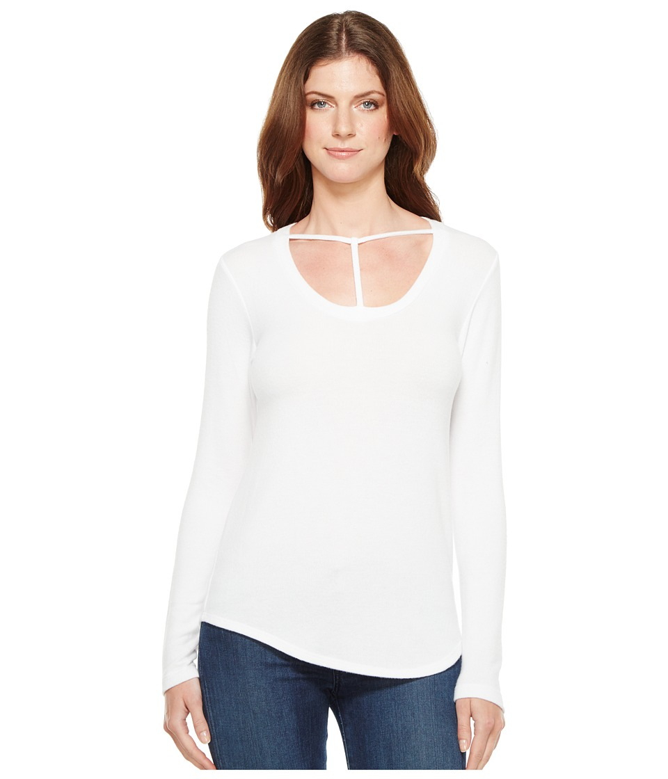 LNA - Curved Bondage Sweater (White) Women's Sweater