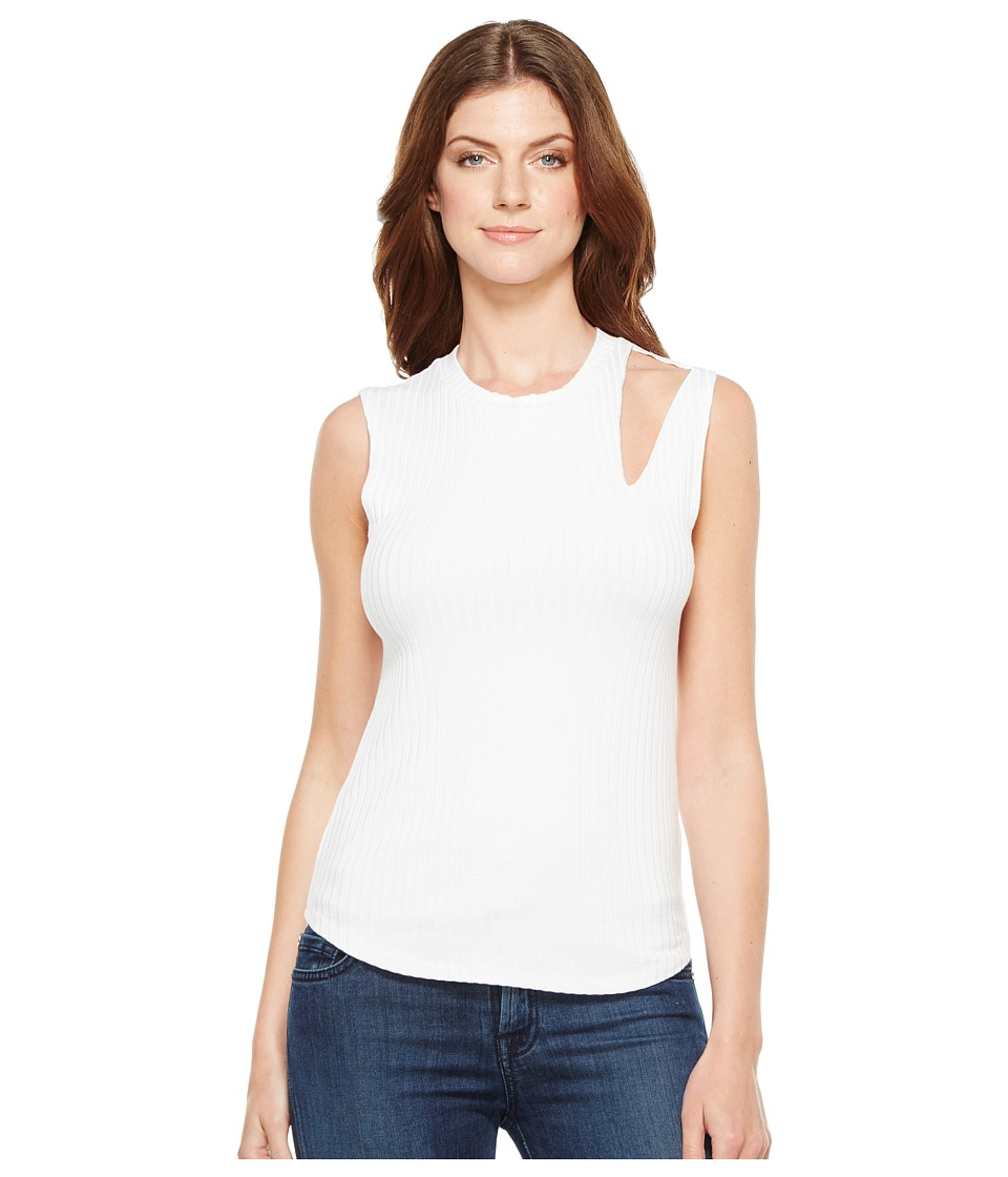 LNA - Single Slice Tank Top (White) Women's Sleeveless