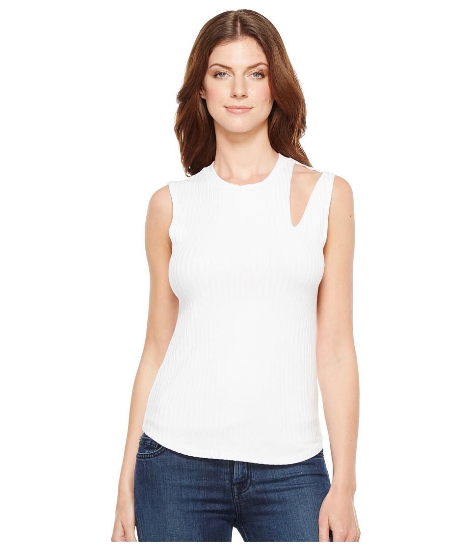 LNA - Single Slice Tank Top (White) Women's Sleeveless