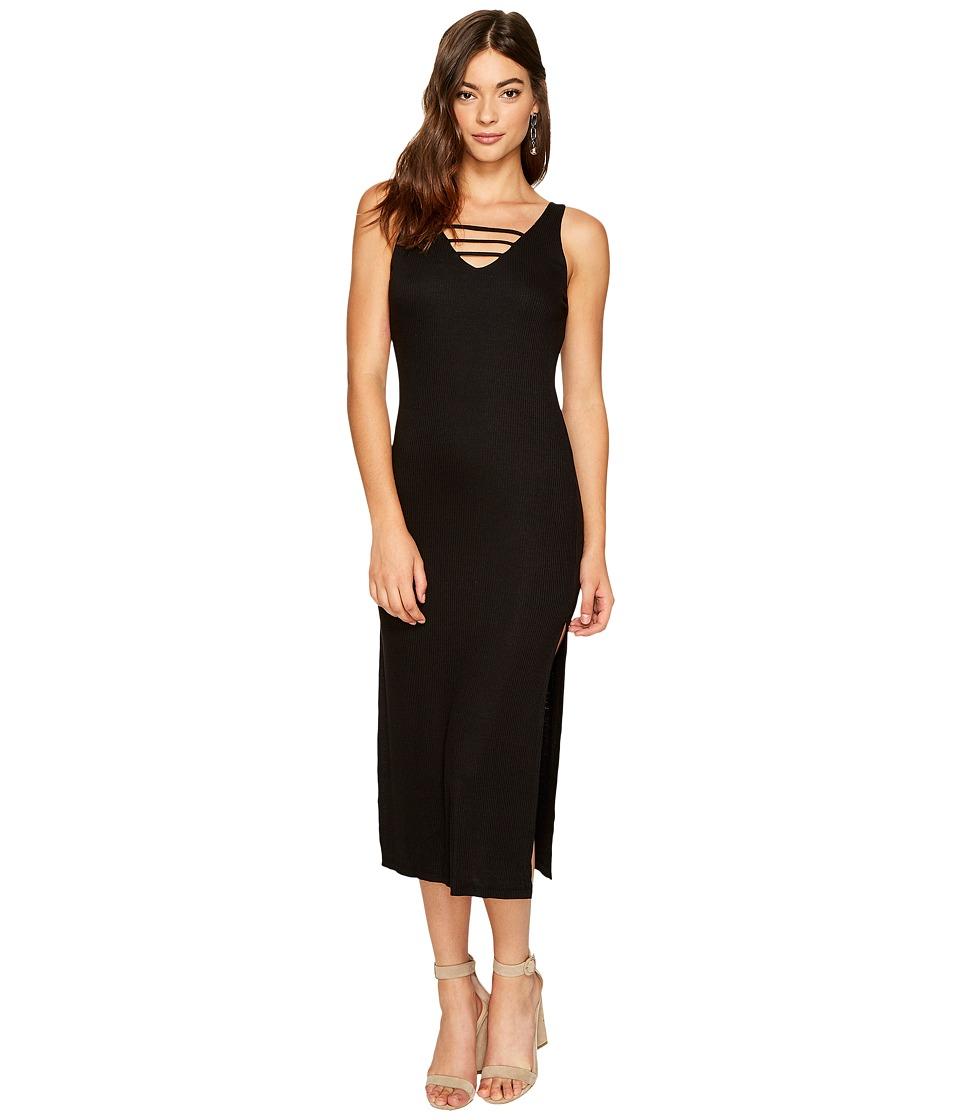 Lucy Love - Cage Midi Dress (Black) Women's Dress