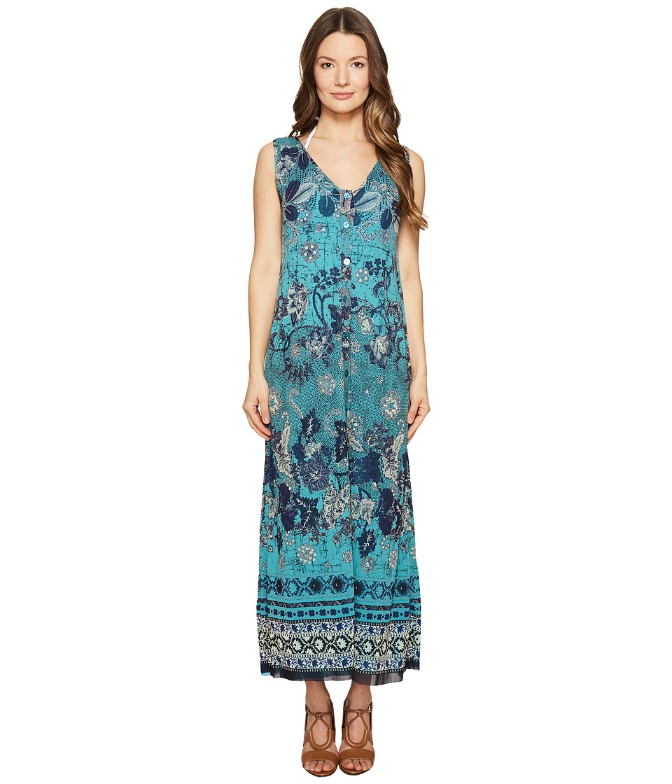 FUZZI Long Reversible Batik Dress Cover-Up (Maldive) Women