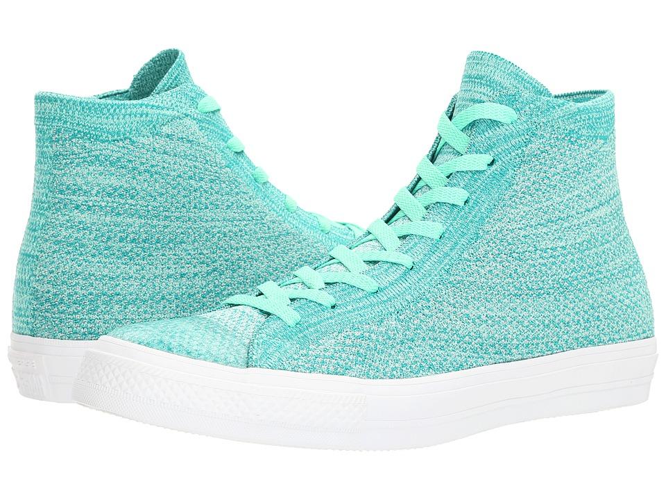 Converse - Chuck Taylor(r) All Star(r) X Nike Flyknit Hi (Green Glow/Teal) Shoes