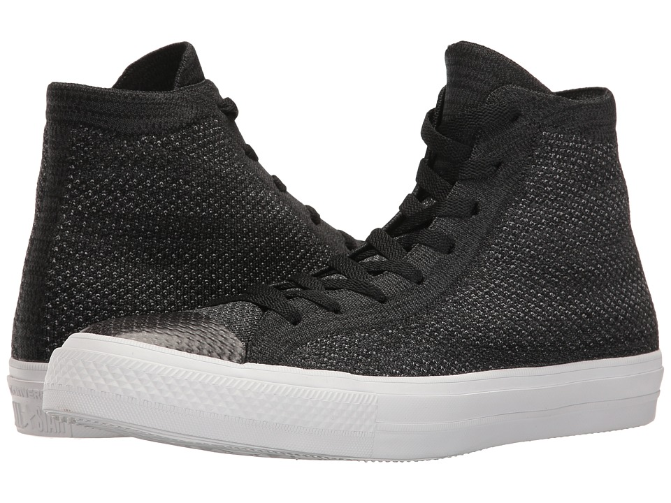 Converse - Chuck Taylor(r) All Star(r) X Nike Flyknit Hi (Black/Grey/White) Shoes