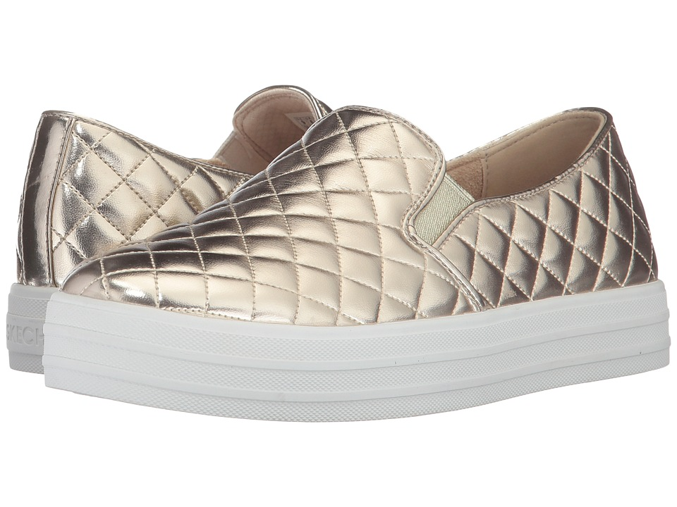 SKECHERS Street - Double Up - Duvet (Gold) Women's Slip on Shoes