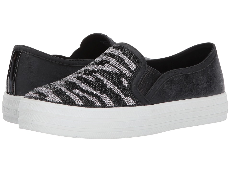 SKECHERS - Double Up - Natural Instinct (Black) Women's Slip on Shoes