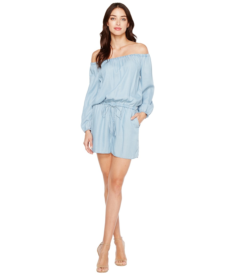 TWO by Vince Camuto - Long Sleeve Off the Shoulder Indigo Tencel Romper (Vintage) Women's Jumpsuit & Rompers One Piece