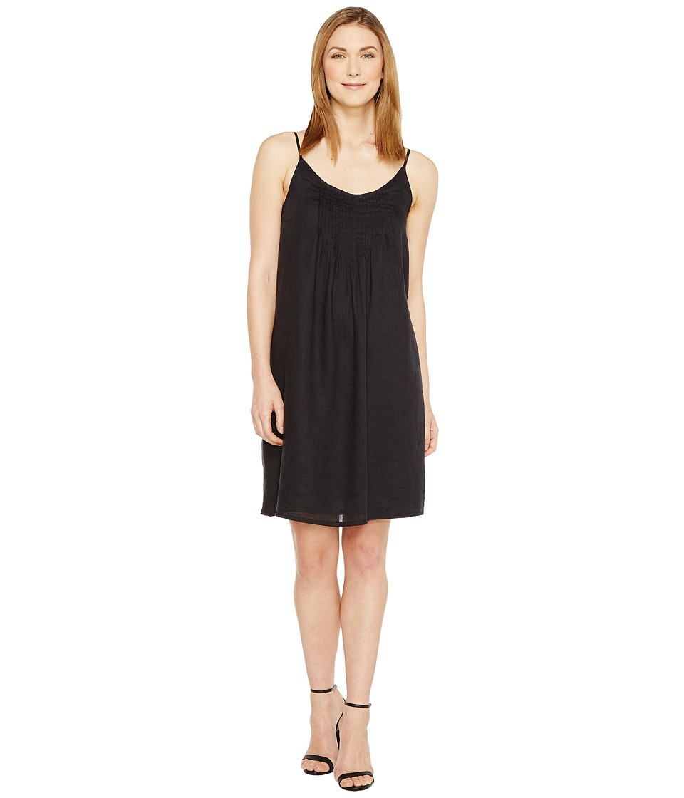 TWO by Vince Camuto - Linen Pintuck Swing Dress (Rich Black) Women's Dress
