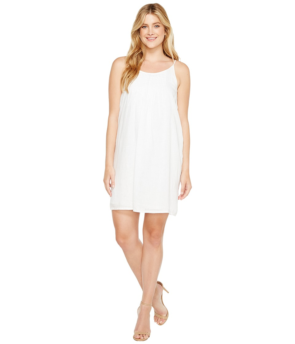 TWO by Vince Camuto - Linen Pintuck Swing Dress (Ultra White) Women's Dress
