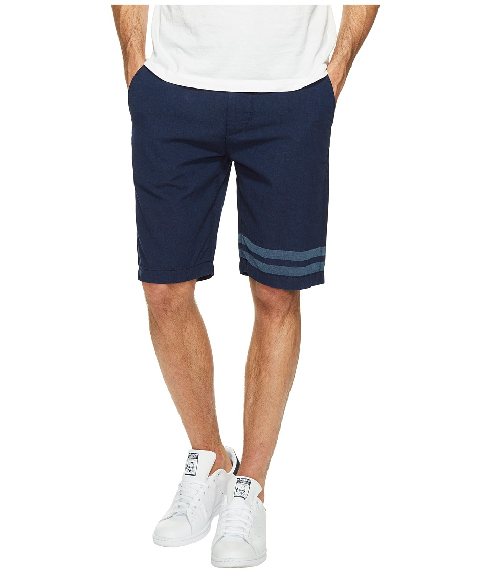 7 For All Mankind - The Chino Shorts in Dark Chambray Stripe (Dark Chambray Stripe) Men's Shorts