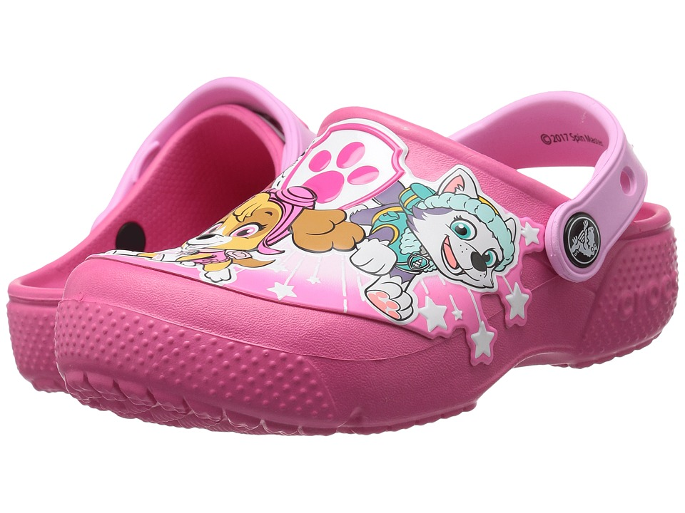 Crocs Kids - CrocsFunLab Paw Patrol Clog (Toddler/Little Kid) (Vibrant Pink) Girl's Shoes