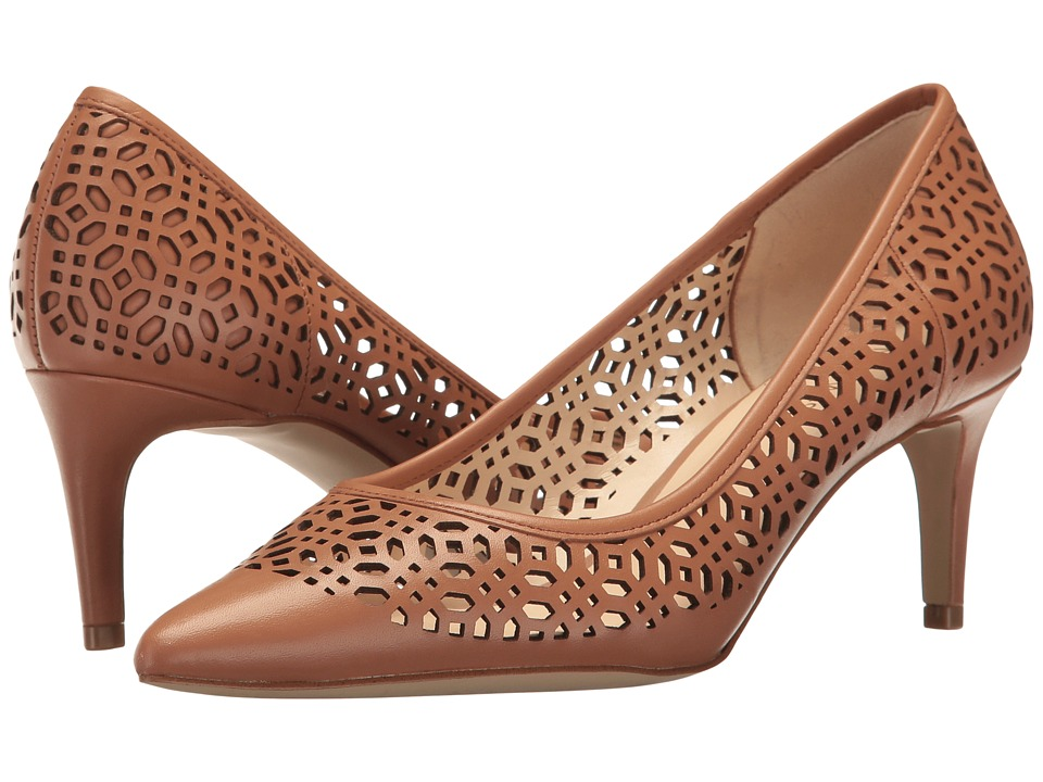 Nine West - Shavar (Dark Natural Leather) Women's 1-2 inch heel Shoes