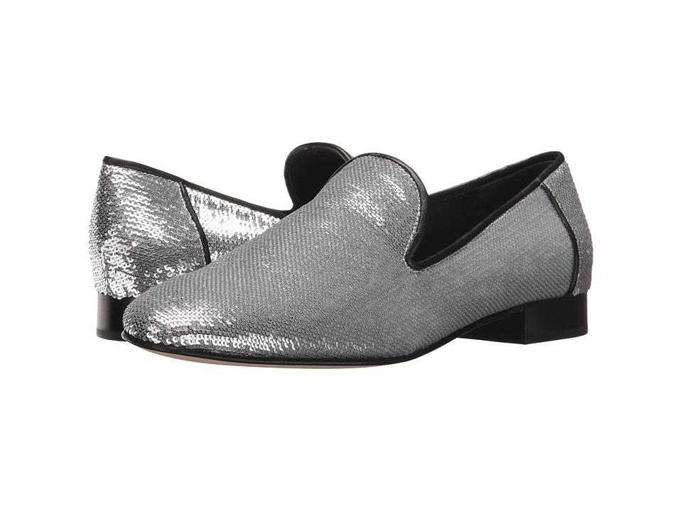 Diane von Furstenberg Leiden-3 (Silver Sequins Fabric) Women